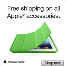Free Shipping on All Apple Accessories
