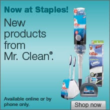 Mr. Clean – New products from Mr. Clean now at Staples.