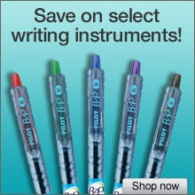 Save on select writing instruments!