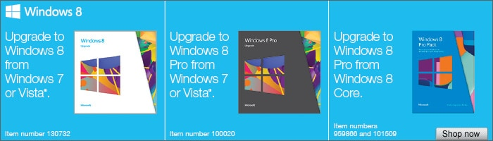 Choose the right version of Windows 8 for you!