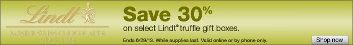 Deal on select Lindt Chocolate Gift Boxes - Save 30%!
