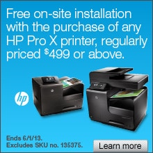 Free printer setup with the purchase of any hp officejet pro x series printer