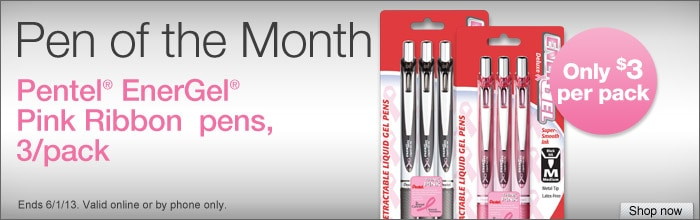 May Pen of The Month - Pentel Energel