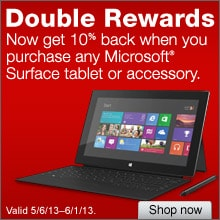 Double Rewards: Now Get 10% Back When You Purchase Any Microsoft Surface Tablet or Accessory