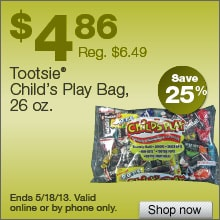 Deal on Tootsie Child’s Play Candy, 26 oz. Bag – Save 25%