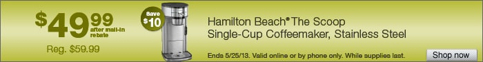 Deal on Hamilton Beach The Scoop Single-Cup Coffee Maker  Save $10!