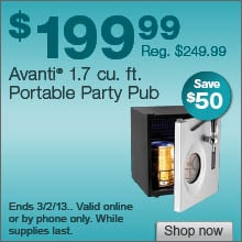 Deal on Avanti Party Pub – Save $50